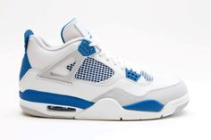 separation shoes d034e 26a69 Air jordan 4 (off white military blue). Nike Air Jordan Retro ...