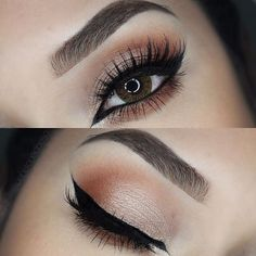 """Beautiful look @penelopeobeso  BROWS: Dark Brown #BrowPowder & Brow Wiz. Set with tinted brow gel in """"chocolate""""  EYES: Shadow Couture palette """"morocco"""" & """"fudge"""" on my crease and from the  Lorac pro palette """"it bronze"""" NYX liquid eyeliner on my water line and Mac  smolder eyeliner. Shadow along lower lash line from the Artist Palette """"Orange You Fancy""""  LASHES: @eyemimosanfrancisco in number """"#GLM12""""  CONTACTS: @juststylemeboutique Giselle in """"brown""""  #anastasiapalette…"""