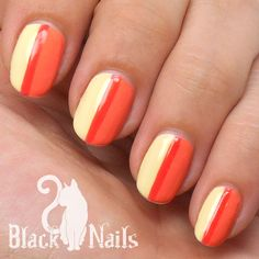 Simple center stripe nail art using Opi and Sinful Colors.