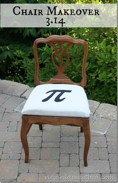 Pi Themed Chair Makeover