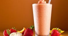 Smoothie de banana com morango