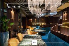 TUYA Restaurant , Lounge & Bar amazing interior designed by Twins Studio. crystal lights decorating this wonderful restaurant. Restaurant Lounge, Restaurant Interior Design, Crystal Lights, Interior Lighting, Fine Dining, Twins, Decorating, Crystals, Studio