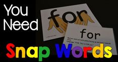 I know a lot of you are wondering how these Snap Words Sight Word cards work. Let's break them down a bit and talk about them. Snap Word sight word cards are awesome because they have a visual picture on one side that helps form a concrete example in little brains. Here is a picture […]