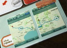 I've been trying to find a great way to show a long journey in a scrapbok (in sections) - this is a GREAT idea!!!  Full article:  http://studiocalico.typepad.com/studio_calico/2013/02/day-by-day.html