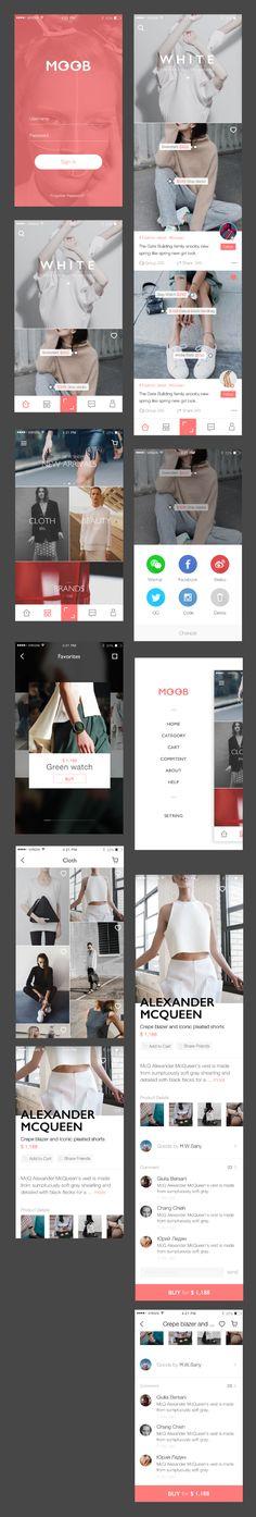 Shopping App Interface Design - UI Kits - Ideas of UI Kits - Shopping ui kit sketch Design Android, Iphone App Design, Ios App Design, Mobile Ui Design, Interface Design, User Interface, Ui Kit, Ux Design, Graphic Design