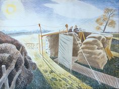 The Higgins Art Gallery & Museum, Bedford: Picture of the Week - Eric Ravilious - Observer's Post Landscape Art, Landscape Paintings, Landscapes, Dulwich Picture Gallery, Pictures Of The Week, East Sussex, Location History, Painting & Drawing, Art Gallery