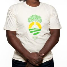 Organic Obama Cotton T, 100% certified organic cotton, made in the USA