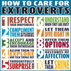 How to care for Extroverts. Introverts need to understand others also.