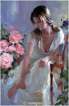 """""""Morning Bliss"""", oil on canvas, 2008. Artist: Vladimir Volegov"""