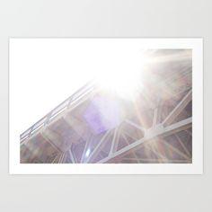 Sunlit bridge.