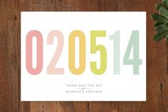 Very simple but lovely colours  #savethedate #guidesforbrides