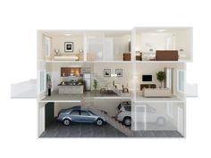 StreetSide's Side Split Floor Plan in Kintalla at Redstone | www.kintalla.com