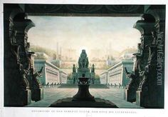 Set Design for the Final Scene of The Magic Flute by Wolfgang Amadeus by Schinkel