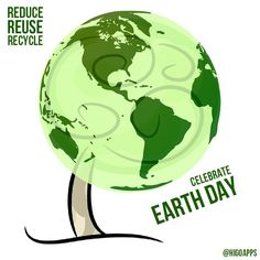 Let's start to #REDUCE, #REUSE, and #RECYCLE in celebrating #EarthDay today. Take actions and make a difference!