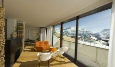 Panoramaverglasung #architecture #hotel #apartment #chalet #alps Architekt: HolzBox Tirol, Foto: Gerda Eichholzer Hotel Apartment, Alps, Windows, Design, Photos, Apartments, Architecture, Timber Wood, Homes