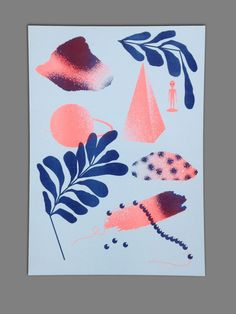 A3 Riso print 2 colors by MichelKeppel on Etsy
