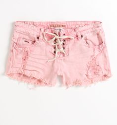Billabong Tempe Shorts:  Look effortlessly cool in these lace-up faded coral shorts.
