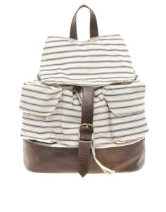 ASOS Striped Backpack... I could make one like this!