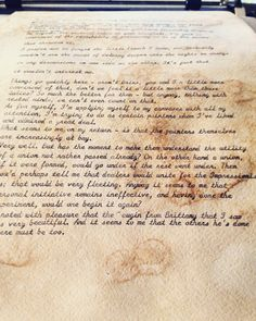 Personalized Typewritten Letter On Aged Paper In Cursive
