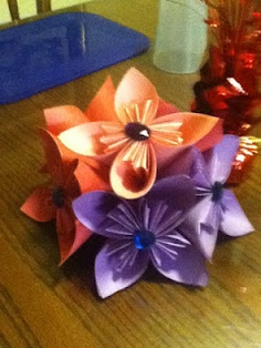 paper flowers....loved the way they came out and plan to make tons more!!