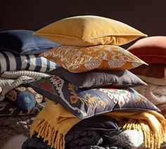 Add color with gorgeous pillows.