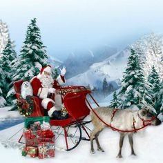 """The Sleigh Ride !"" by Morag Bates Christmas Sled, Christmas Scenes, Christmas Pictures, All Things Christmas, White Christmas, Christmas Holidays, Christmas Markets, Christmas Ideas, Dashing Through The Snow"