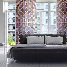 "Pia Schneider ""Melange Of Circles III "" Pink Purple Decorative Sheer Curtain - KESS InHouse  - 2 #art #design #piaschneider #pink #rosequarz #decorative #home #curtain #decor #piaschneider #kessinhouse"