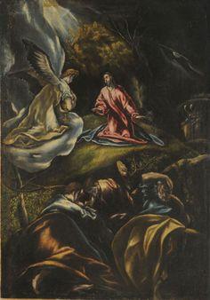 Jesús en el Huerto de los Olivos Autor: El Greco Fecha: 1600-1607 Tecnica: Oleo  Objeto: Pintura Estilo Manierismo Medidas: 108 x 76 cm