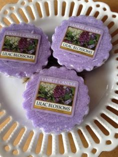 YANKEE CANDLE  LILAC BLOSSOMS LOT OF 3 TARTS WAX MELTS FREE SHIPPING #YankeeCandle