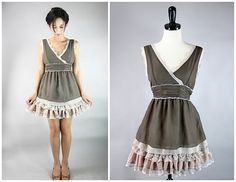 Easy Thrift Store Remake: The Romantiks Frock-This is not the before it is the after.