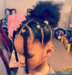 Cute Toddler Hairstyles, Kids Curly Hairstyles, Cute Little Girl Hairstyles, Natural Hairstyles For Kids, Mixed Kids Hairstyles, Kids Natural Hair, Hairstyle Ideas, Little Girls Natural Hairstyles, Easy Hairstyle