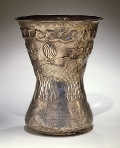 Beaker with birds and animals, 4th century b.c. Thraco-Geti style Lower Danube region, Thrace Silver