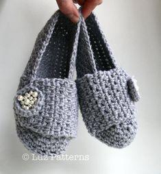Crochet Patterns , loafer pattern women and girls by Luz Patterns #crochetpatterns #crochet