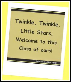 twinkle twinkle Sunnyslope stars, welcome back to this school of ours...