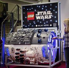 So cool! all lego barrel organ which plays the Star Wars theme.