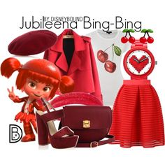 Jubileena Bing-Bing by leslieakay on Polyvore featuring Therapy, Chicnova Fashion, The Code, Lego, Swarovski, Gucci, disney, disneybound and disneycharacter