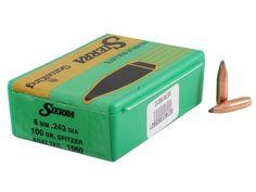 Sierra GameKing Bullets 243 Caliber, Diameter) 100 Grain Spitzer Boat Tail Box of 100 Reloading Supplies, Bullets, Grains, The 100, Boat, Dinghy, Bullet, Boats, Seeds