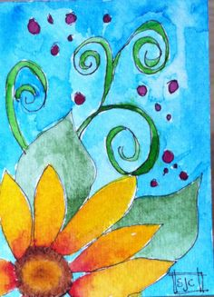 ACEO Life in The Garden