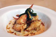 Fried Maine Lobster Caramel appetizer
