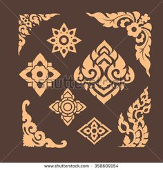 pattern and graphic for decorative design