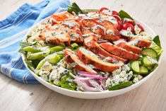 Buffalo Chicken Salad Is The Guilt Free Way To Enjoy A Game Day FavoriteDelish Game Salad, Creamed Cucumbers, Paleo, Keto, Romaine Salad, Chicken Salad Recipes, Chicken Dips, Spinach Stuffed Chicken, Dinner Salads