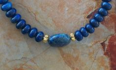 Genuine Grade AA Lapis Lazuli Beaded by EurekaSpringsRocks on Etsy, $32.95