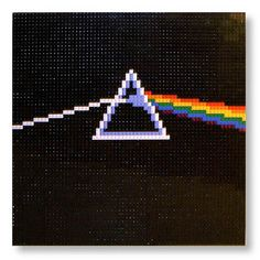 LEGO Pink Floyd - The Dark Side of the Moon album cover : a LEGO® creation by Eric Hunter : MOCpages.com