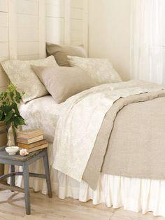 Stone Washed Linen Duvet Cover by Cottageandbungalow.com