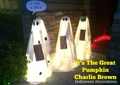 Pinning with Purpose:It's the Great Pumpkin Charlie Brown Halloween Decorations http://pinningwithpurpose.blogspot.com