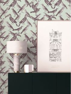 Habillez votre mur avec les nageuses du papier peint Le plongeon de PaperMint, la nouvelle marque parisienne de décoration murale.