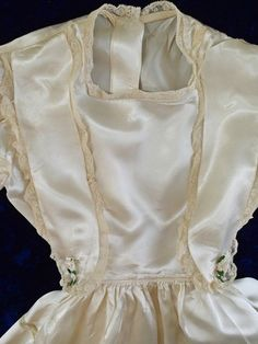 Sweet Vintage Communion Satin Lace Little Girls Dress | eBay