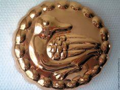 Купить Винтажная медная форма с уткой - золотой, винтажная посуда, кухонная утварь, форма для выпечки
