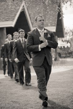 Groom and groomsmen ready for wedding ceremony