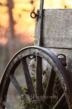 Wheel of Time Fine Art Photography Rustic Country Western Style